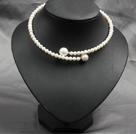 时尚白珍珠海贝珠项链颈链