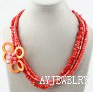 珊瑚贝壳项链