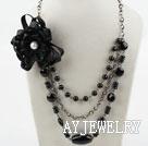 黑玛瑙贝壳珠项链