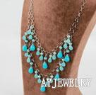 水晶蓝玉项链