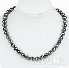 10mm A级切钨钢石项链 简约单层圆珠款