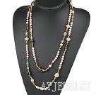 珍珠水晶宝石项链毛衣链