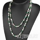 白绿灰长款珍珠项链毛衣链