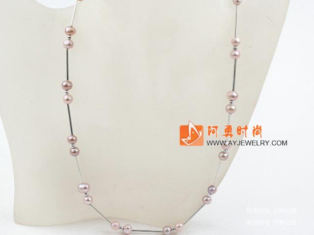紫色珍珠项链