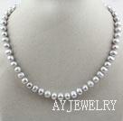 灰色珍珠项链