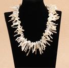 树枝状白色再生珍珠项链