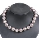 16mm灰色海贝珠项链