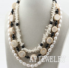 白珍珠白珊瑚项链