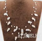 白色牙齿珍珠项链