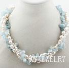 珍珠海蓝宝项链
