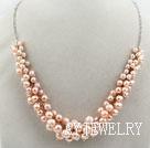 天然粉珍珠项链