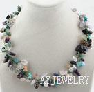 彩色水晶宝石项链