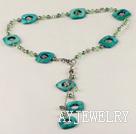 珍珠贝壳水晶项链