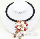珍珠玛瑙贝壳项圈项链