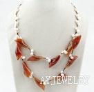 珍珠玛瑙花项链