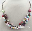 彩色贝壳珠项链