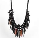 黑色系水晶玛瑙礼服项链