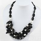 黑玛瑙珍珠项链