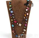 珍珠贝壳长款项链毛衣链