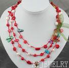 珍珠珊瑚两用项链