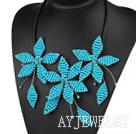 蓝松石花朵项链
