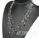 彩色水晶满天星项链