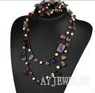 珍珠紫晶水晶项链(长短各一条)