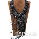 黑珍珠水晶晚礼项链