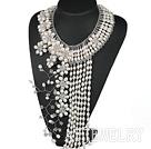 高雅珍珠水晶项链
