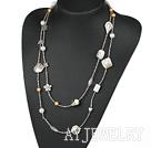 时尚贝壳珠水晶项链