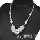 水晶海贝珠项链