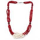白珊瑚红珊瑚项链