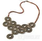 仿古铜项链