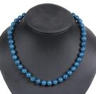 10mm深蓝色海贝珠项链