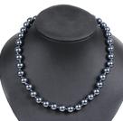 10mm黑色海贝珠项链
