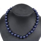 12mm深蓝色海贝珠项链