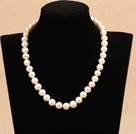 10-11mm亮光白珍珠项链
