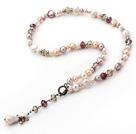 时尚珍珠水晶项链