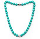 新款绿色海贝珠钻球项链