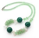 绿水晶东陵玉项链