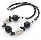 黑水晶黑玛瑙项链