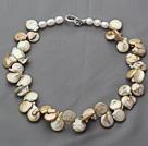 棕黄色异形珍珠项链