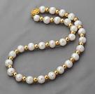 天然白珍珠项链