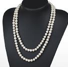9-10mm长款白珍珠项链