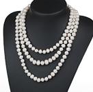 10-11mm长款白珍珠项链