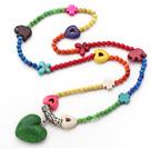 彩色松石项链
