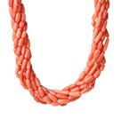8股橘粉色珊瑚项链