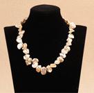 花朵状粉色A级再生珍珠项链