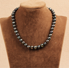 10-11mm亮光黑珍珠项链