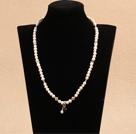 白珍珠项链(可作三圈弹力手链)